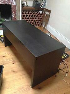 Black laminate desk- perfect form home office Carlton Melbourne City Preview