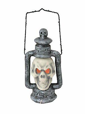 Fasching Halloween Deko Totenkopflaterne Horror Laterne Lampe Deco Light Umzug