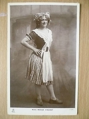 Real Photo Postcard- Theater Actresses MISS MADGE VINCENT, No. T 674