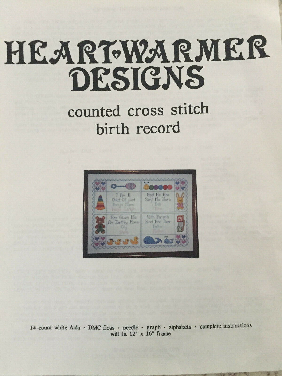 new counted cross stitch kit baby birth