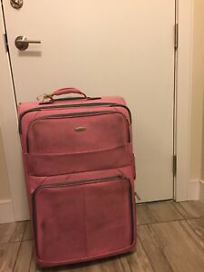 Large Pink Olympia USA luggage