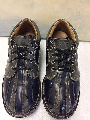 John Fluevog Gibson Classics Angel Men's Oxford Shoe Blue/Gray Sz 5.5 M
