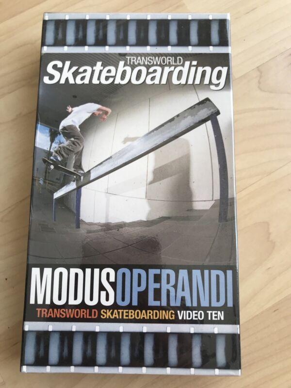 New Sealed Transworld Skateboarding Modus Operandi VHS Vtg Skate Carroll Johnson