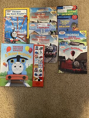 Thomas the Train Books ~Lot of 10 Paperback/ Hardcover Mix with A Noisy Surprise