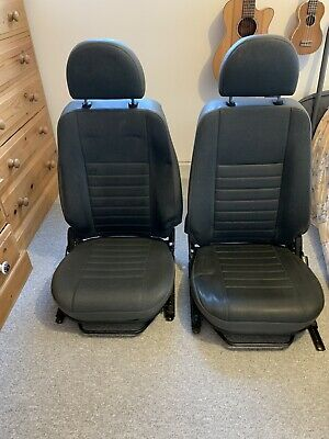 Land Rover Defender Front Seats And New XS Half Leather Seat Covers 90 110