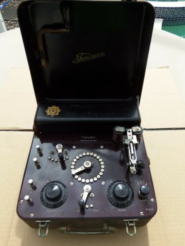 TONISATOR Vintage Clockwork Electric Shock Quack Machine c1930's FARADIC BATTERY