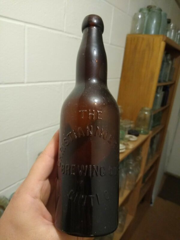 Antique Christian Moerlein blob top Brewery Bottle From Cincinnati Ohio