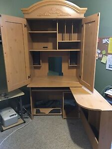 Desk - folds into cabinet with chair