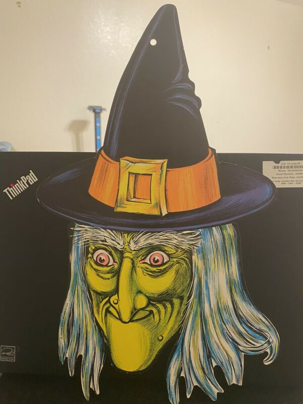 Vintage 1973 Halloween Beistle Die Cut Witch Decoration