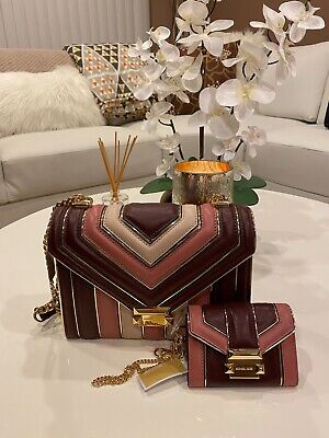 Michael Kors Whitney Shoulder Oxblood Bag Purse with Wallet NWT