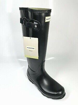 Hunter Norris Adjustable Field Boots w/ Box UK8 EU42 Black Wellies Festival...