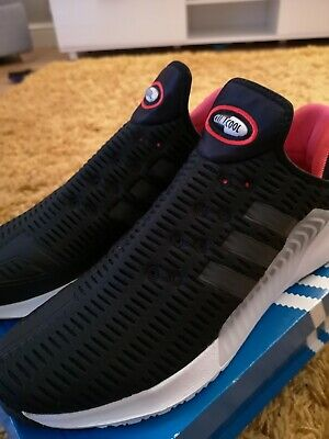 Authentic Adidas ClimaCool 02/17 Mens Running Trainer Size 9 Black RRP £95 BNIB