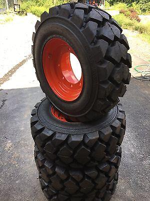 4 Galaxy Hulk L5 12-16.5 Skid Steer Tireswheels For Bobcat A300s750 12x16.5