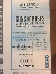 Gun N Roses: Sydney 10 Feb - 1x Diamond GA Standing Ticket Newport Pittwater Area Preview
