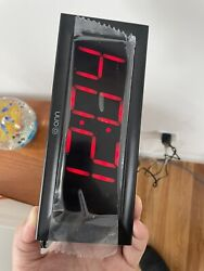 ONN AM/FM Digital Alarm Clock Radio, Black, Large 2 Inch By 6.4 Inch LED
