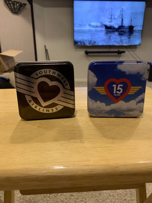 Southwest Airlines Watch Tins 15 Years