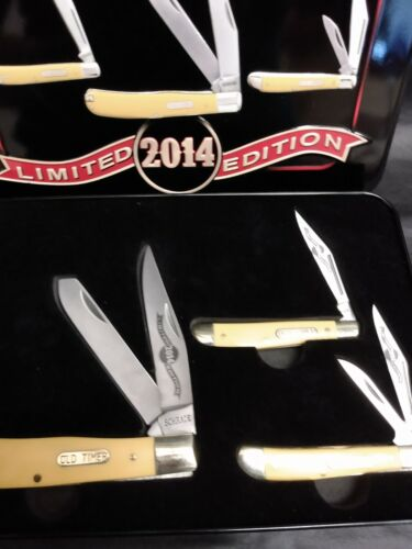 """Schrade """"Old Timer"""" Knives Limited Edition Gift Set 2014 with Tin."""