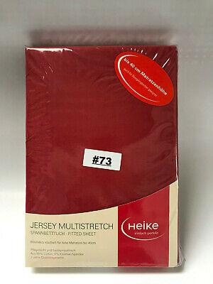 Jersey Multistretch Boxspringbett Spannbettlaken 110x190-130x220 Dunkelrot