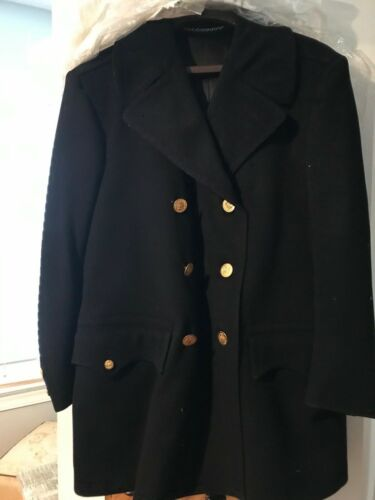 1973 New York City Police Dept. Smith-Gray Officer Overcoat - Wool - Mens 38