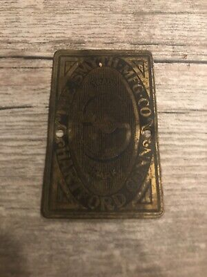 Vtg The Smyth Mfg Co Hartford Connecticut Advertising Brass Metal Emblem Sign