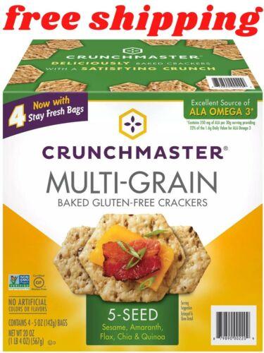 Crunchmaster 5 Seed Multi-Grain Cracker (5 oz., 4 pk.)
