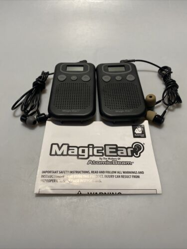 Magic Ear Portable Sound Amplifier, Works Great Set Of 2 Free Shipping - $19.95