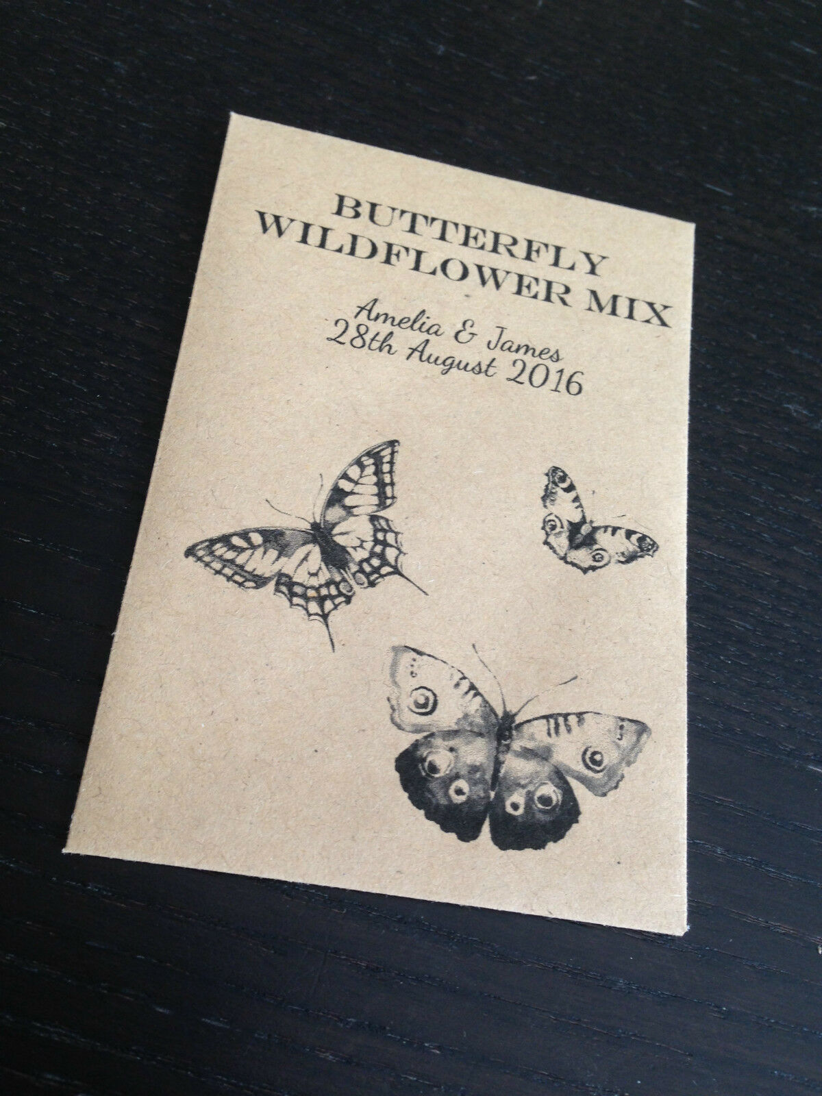 10 x Wildflower Seed Wedding Favours Packets PERSONALISED Eco ...