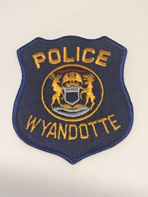 Wyandotte Michigan Police Dept Shoulder Patch Vintage