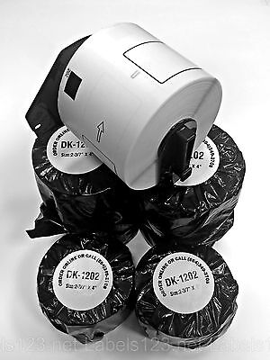 50 Rolls Of Dk-1202 Brother Ql550 Ql700 Compatible Labels 1 Reusable Cartridge