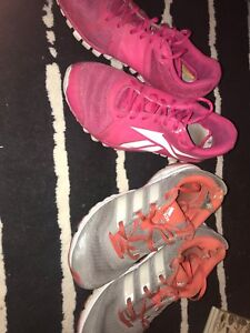 Woman's adidas and Reebok shoes
