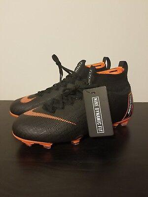 3d7daea77 NEW Nike JR Mercurial Superfly 6 Elite FG Soccer Cleats Size 5Y Black AH7340 -081