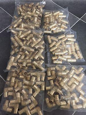 75 - 12 Pex Brass Crimp Tees Elbows Coupling Fittings  Lead-free Brass