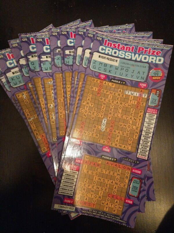 100 California Lottery $20 2nd Second Chance Scratchers 1 winning ticket!