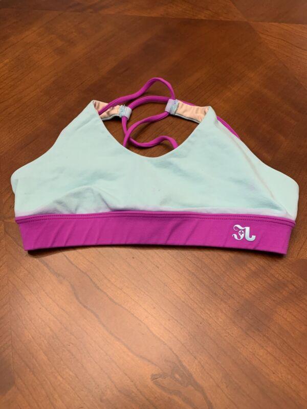 Jo+Jax Dancewear Med Child Light Blue & Purple Strappy Top 2008ACC