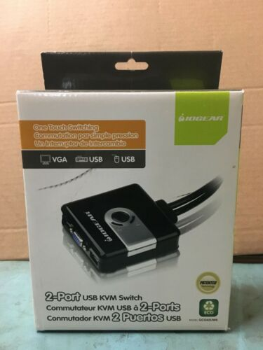 2-Port Compact USB VGA KVM with Built-in Cables (GCS42UW6)