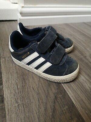 Boys Blue Adidas GAZELLE trainers UK Infant Size 5