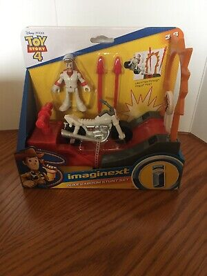 Fisher Price Imaginext Toy Story 4 DUKE CABOOM STUNT SET New