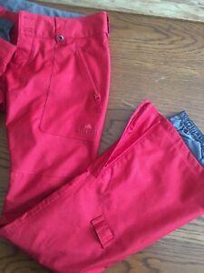 Burton Snowboard Pants Dryride XS Women's Waterproof Red 87380