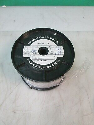 National Electric Wire Fecral 720 Heating Wire 18 X .032 6lbs Resistance Alloy