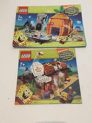 LEGO SpongeBob 3827 3825 INSTRUCTION MANUAL only Lot Sponge Bob Squarepants
