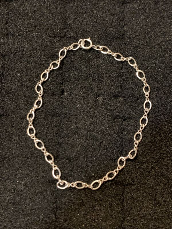Vintage Sterling Silver Bracelet Petite 7.5 Inches