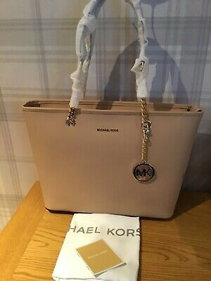 MICHAEL KORS Jet Set Chain Tote in Oyster Beige Leather RRP £315 BNWT