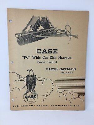 Case Pc Wide Cut Disk Harrow Parts List Catalog A465 Power Control 18-1847