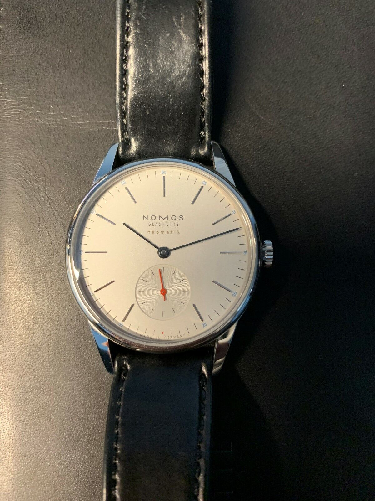 NOMOS GLASHUTTE ORION NEOMATIK 392 WATCH FULL KIT AUTOMATIC EXTRA STRAP - watch picture 1