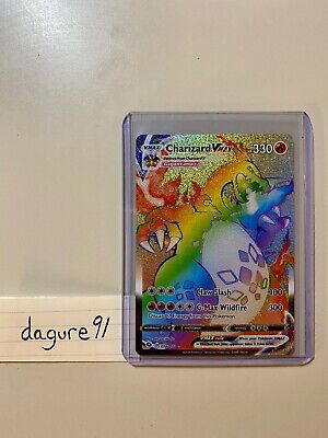 Pokemon Charizard Vmax Rainbow 74/73 Champion's Path Gem Mint