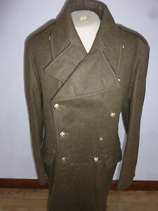 GENERAL SERVICE CORPS MENS OFFICER VINTAGE GREATCOAT SIZE 12 CHEST: 42-44
