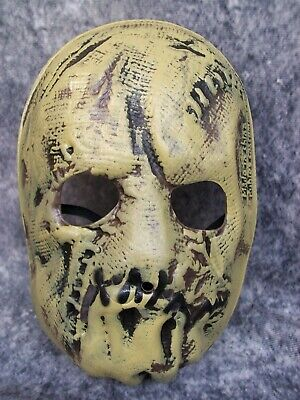 Creepy Scarecrow Kids Foam Face Mask Batman Haunted Stitched Bag Look Sack Head
