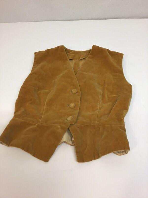 Vintage Handmade Kids Vest Made Of A Suede Or Felt Like Materal Read Details