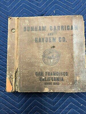 RARE Huge Trade Catalog 1930's / 1933 Dunham Carrigan & Hayden Co. San Francisco