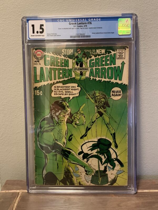 Green Lantern #76 (Apr 1970, DC) - CGC 1.5 - Classic Neal Adams Cover - Comics